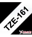 Băng nhãn in Brother TZe-161, khổ 36mm, dài 8m, Black on Clear, chống thấm nước | Nhãn TZe tiêu chuẩn | khuetu.vn