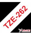 Băng nhãn in Brother TZe-262, khổ 36mm, dài 8m, Red on White, chống thấm nước | Nhãn TZe tiêu chuẩn | khuetu.vn