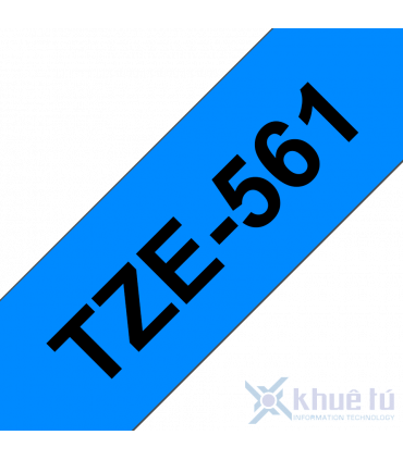 Brother TZe-561, khổ 36mm, dài 8m, Black on Blue, chống thấm nước