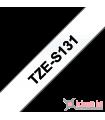 Băng nhãn in Brother TZe-S131, khổ 12mm, dài 8m, Black on Clear, siêu dính, chống thấm nước | Nhãn TZe siêu dính | khuetu.vn