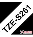 Băng nhãn in Brother TZe-S261, khổ 36mm, dài 8m, Black on White, siêu dính, chống thấm nước | Nhãn TZe siêu dính | khuetu.vn