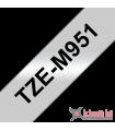 Băng nhãn in Brother TZe-M951, khổ 24mm, dài 8m, Black on Silver Matt, nhãn bạc, chống thấm nước | Nhãn TZe màu bạc | khuet...