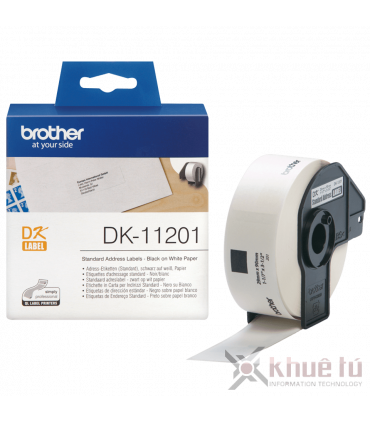 Brother DK-11201, 29mm x 90mm x 400 nhãn, nhãn bế, giấy decal