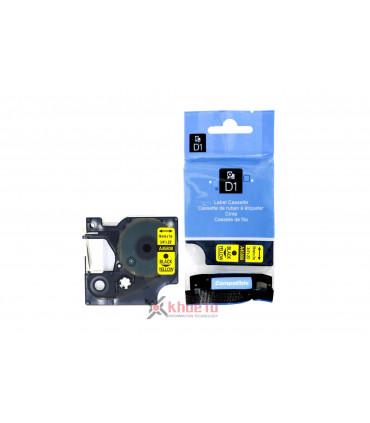 DM-A45808 D1 Tape A45808 19mm x 7m Black on Yellow