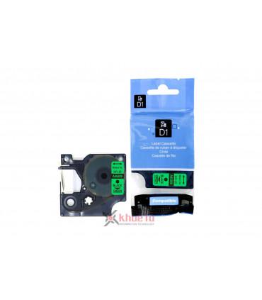 DM-A45809 D1 Tape A45809 19mm x 7m Black on Green