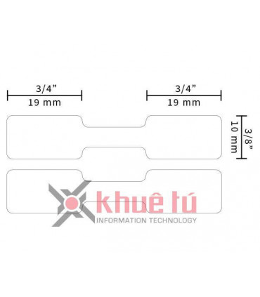 DM-A11351, Black on White, 11mm x 54mm x 1500 labels