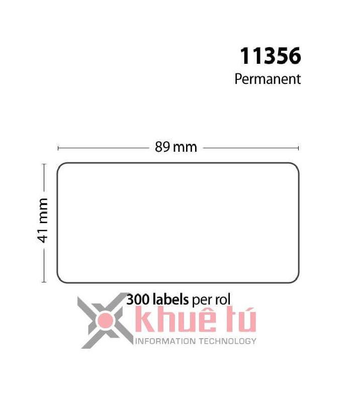 Băng nhãn in DM-A11356, Black on White, 41mm x 89mm x 300 Labels | Nhãn giấy máy LabelWriter | khuetu.vn