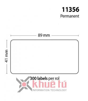 DM-A11356, Black on White, 41mm x 89mm x 300 Labels