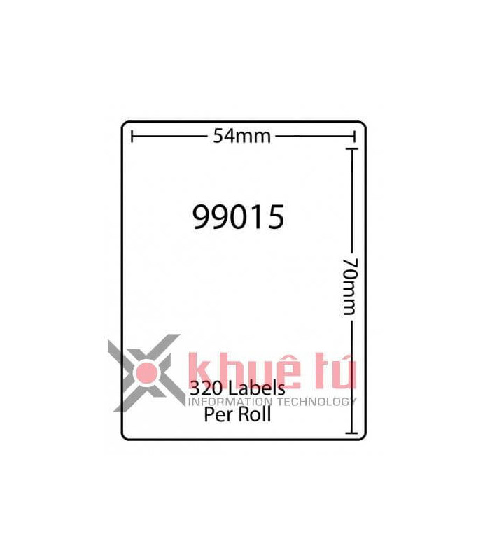 Băng nhãn in DM-A99015, Black on White, 54mm x 70mm x 320 Labels | Nhãn Cho Máy Dymo | khuetu.vn