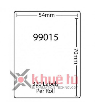 DM-A99015, Black on White, 54mm x 70mm x 320 Labels