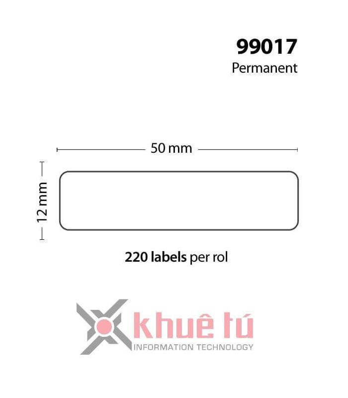 Băng nhãn in DM-A99017, Black on White, 12mm x 50mm x 220 Labels | Nhãn giấy máy LabelWriter | khuetu.vn