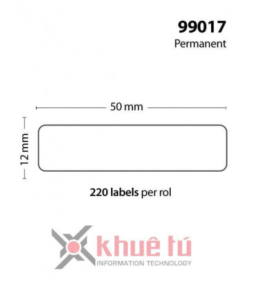 DM-A99017, Black on White, 12mm x 50mm x 220 Labels