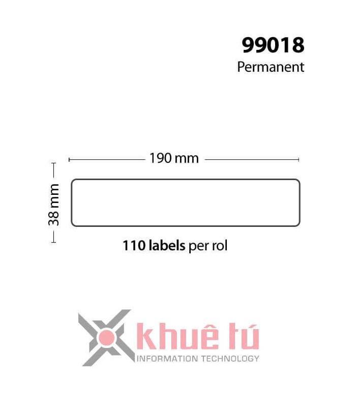 Băng nhãn in DM-A99018, Black on White, 38mm x 190mm x 110 Labels   Nhãn giấy máy LabelWriter   khuetu.vn