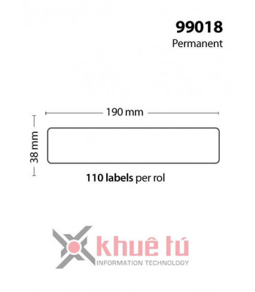 DM-A99018, Black on White, 38mm x 190mm x 110 Labels