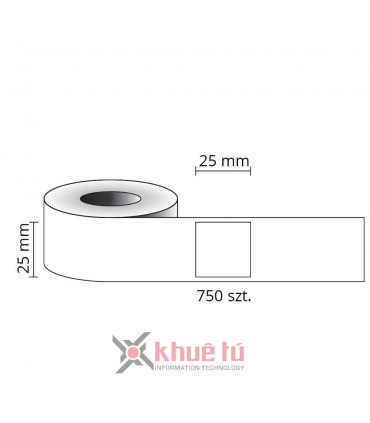 DM-AS0929120, Black on White, 25mm x 25mm x 750 Labels