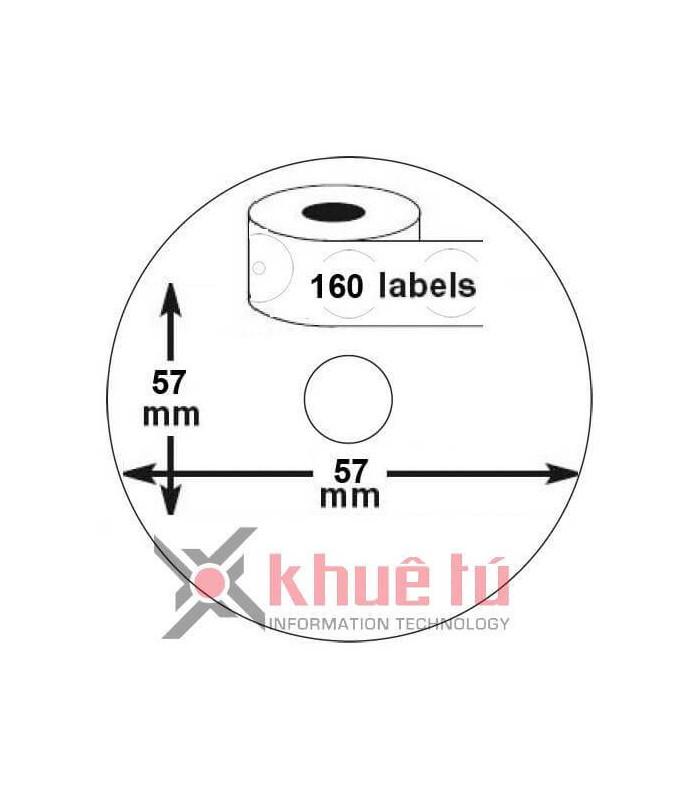 Băng nhãn in DM-A14681 Black on White, o57mm x 160 Labels | Nhãn giấy máy LabelWriter | khuetu.vn