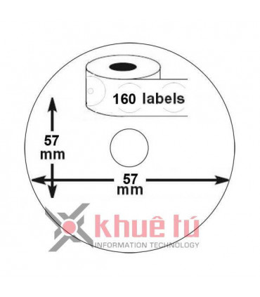 DM-A14681 Black on White, o57mm x 160 Labels