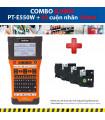 Combo: PT-E550W + 3 Cuộn nhãn 18mm | Máy in nhãn Brother | khuetu.vn