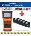 Combo: PT-E550W + 5 Cuộn nhãn 18mm | Máy in nhãn Brother | khuetu.vn
