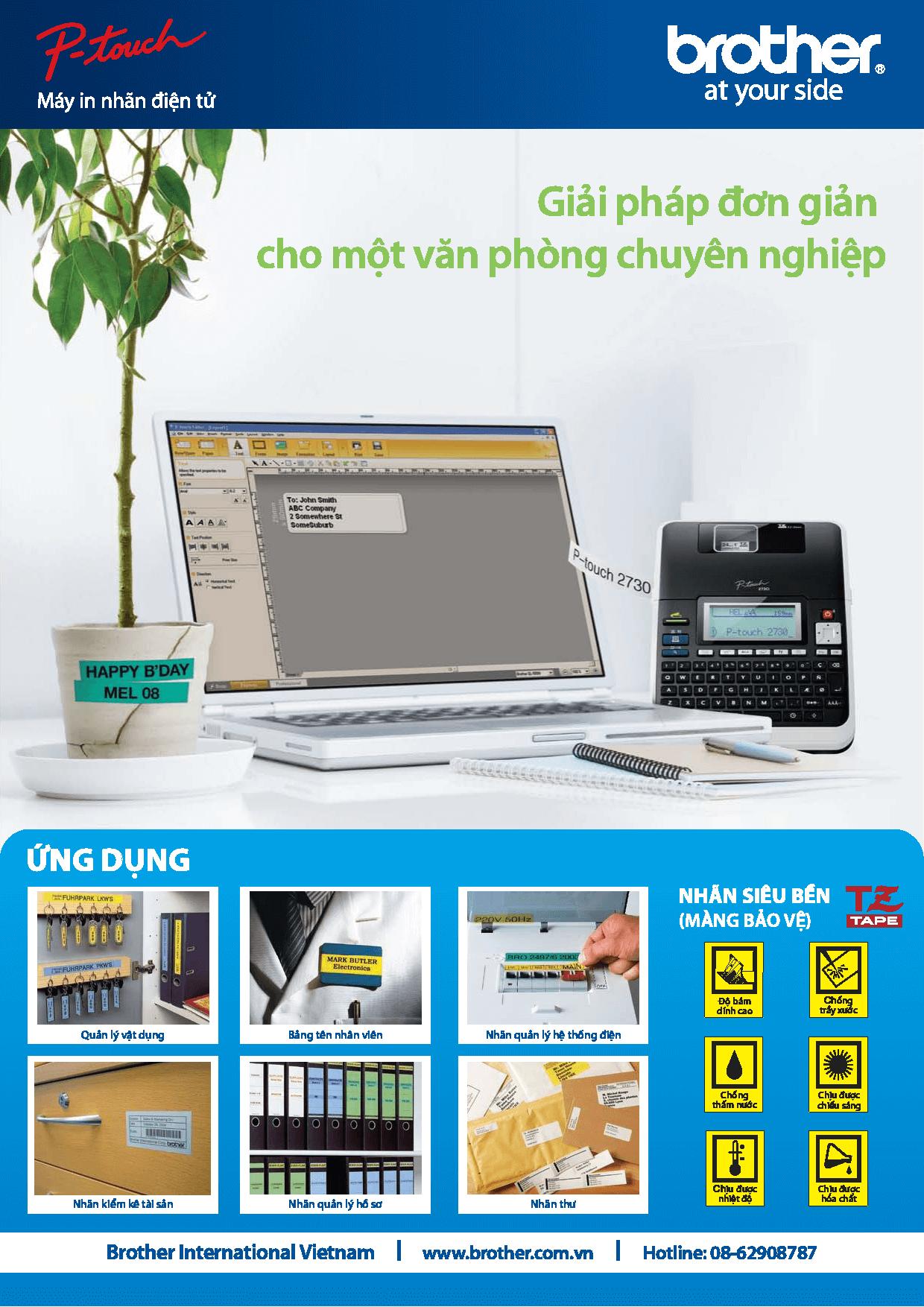 Brother P Touch - Giải pháp in nhãn cho văn phòng chuyên nghiệp