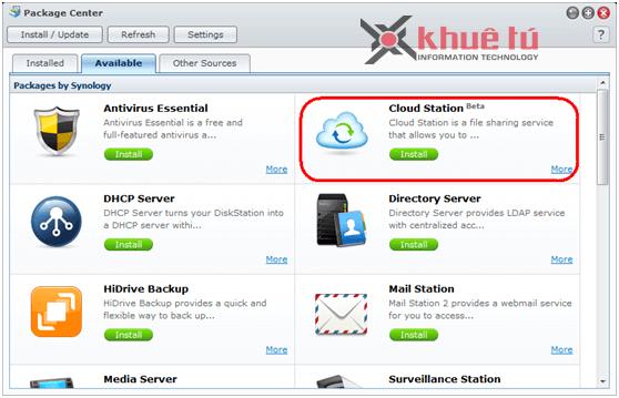 Hướng dẫn dùng Cloud Station để đồng bộ files giữa NAS