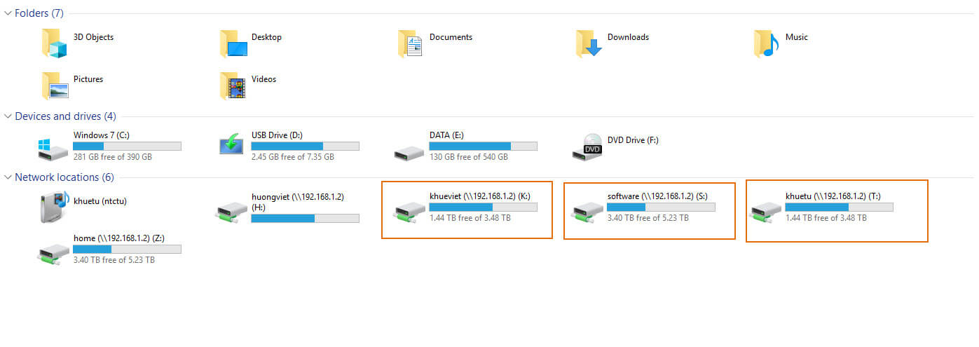 NAS Synology làm File Server