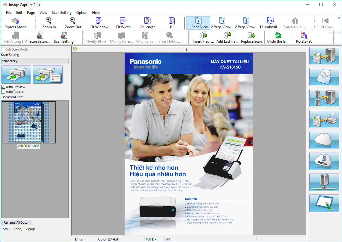 Máy scan Panasonic - Hướng dẫn sử dụng máy scan KV-S1026C