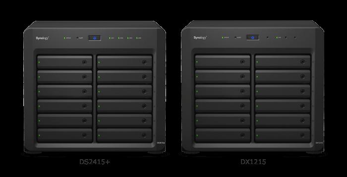 NAS DS2415+ lưu trữ 72TB, mở rộng 144TB