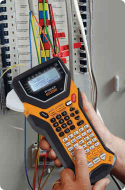 The Brother™ PT-7600 telco and datacom labeling solution